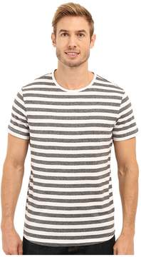 Kenneth Cole Sportswear Short Sleeve Marled Stripe Crew Men's Short Sleeve Knit