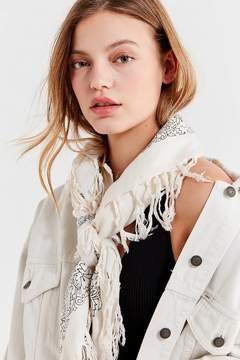 Urban Outfitters Floral Tassel Scarf