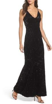 Dress the Population Vanessa Velvet Sequin Gown