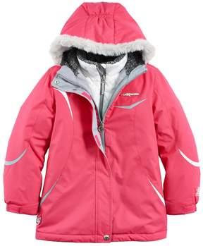 ZeroXposur Girls 7-16 Christine Heavyweight Faux-Fur Trim Systems Jacket