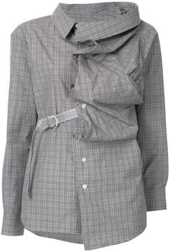 Facetasm ruffle fitted shirt