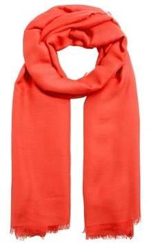 MANGO Frayed edge scarf