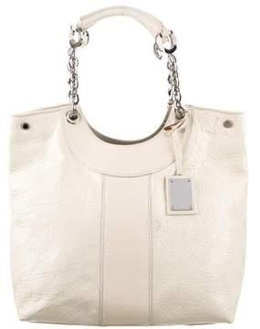 Oscar de la Renta Textured Patent Leather Bag