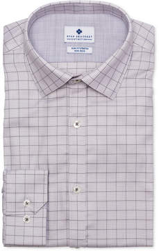 Ryan Seacrest Distinction Men's Ultimate Active Slim-Fit Non-Iron Performance Stretch Dobby Check Dress Shirt, Created for Macy's