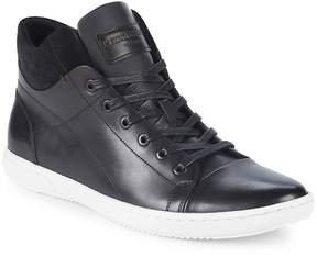 Kenneth Cole Men's Lace-Up Leather High-Top Sneakers