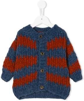 Bobo Choses striped chunky knit cardigan