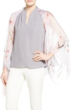 Ted Baker Women's Floral Print Silk Cape Scarf