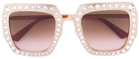 Gucci Oversize square-frame sunglasses with crystals