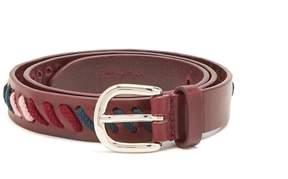Isabel Marant Zitty lace-embellished leather belt