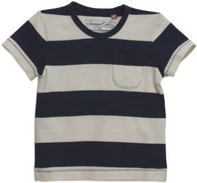 Sovereign Code Striped Pocket Short-Sleeve Tee, Cream, Size 12-24M