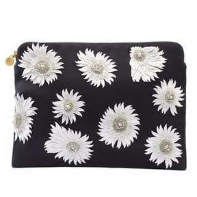 Forest of Chintz Modern Aster White Clutch Bag