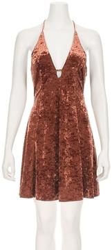 Astr Faye Velvet Dress