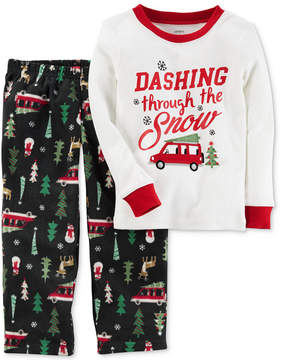Carter's 2-Pc. Dashing Through The Snow Pajama Set, Little Boys (4-7) & Big Boys (8-20)