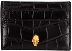 Alexander McQueen Leather card wallet