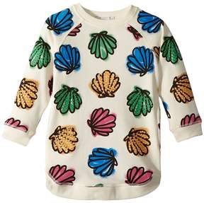 Stella McCartney Sapphire Knit Dress w/ Colorful Seashell Print Girl's Dress