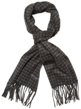 Hickey Freeman Men's Cashmere Gingham Scarf