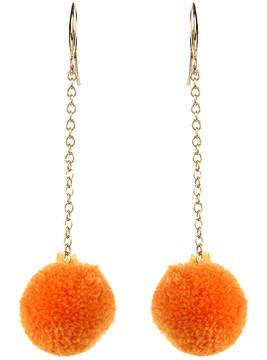 Amrita Singh Orange & Goldtone Paradise Pom-Pom Drop Earrings