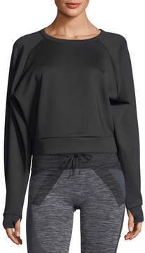 Blanc Noir Crewneck Long-Sleeve Lounge Sweatshirt