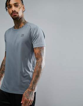 Jack and Jones Tech T-Shirt In Dry Fit Fabric With Box Neck