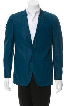 Calvin Klein Collection Waxed Two-Button Blazer