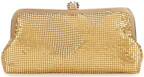Kate Landry Mixed Mesh Frame Clutch