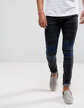 Religion Jeans In Super Skinny Stretch Fit with Biker Knee Detail
