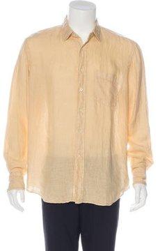 Glanshirt Linen Button-Up Shirt w/ Tags