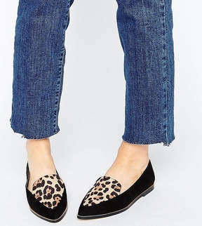 Asos MARTHA Wide Fit Pointed Flat Shoes