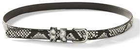 Banana Republic Snake-Print Small Trouser Belt