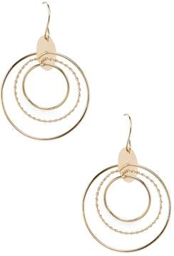 Candela Women's 14K Yellow Gold Circle Dangle Earrings