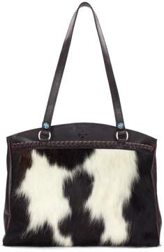 Patricia Nash Poppy Leather Haircalf Top-Zip Tote