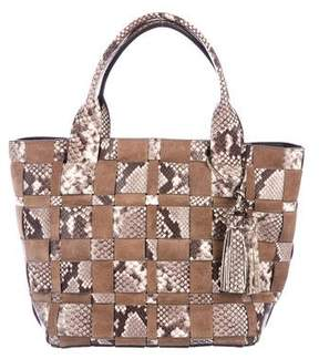 MICHAEL Michael Kors Woven Leather & Suede Tote