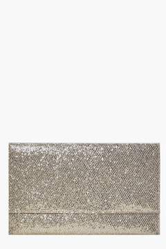 boohoo Fold Over Glitter Clutch