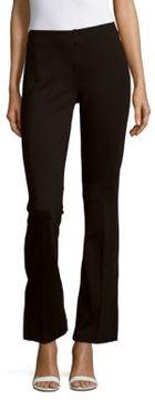 Saks Fifth Avenue BLACK Solid Ponte Straight-Leg Pull-On Pants