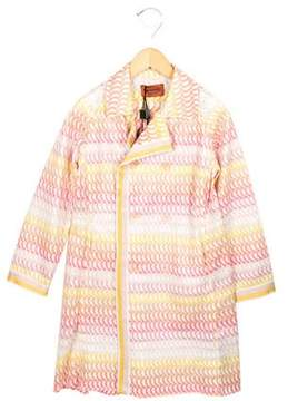 Missoni Girls' Patterned Reversible Coat w/ Tags