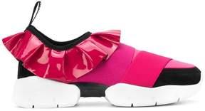 Emilio Pucci ruffled slip-on sneakers