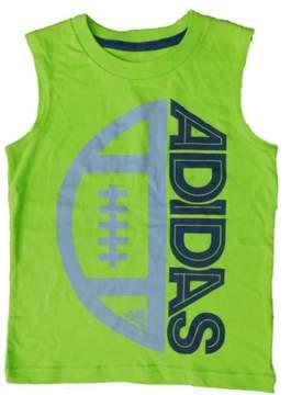 adidas Toddler Boys Lime Green Football Tank Top Sleeveless Shirt 2T