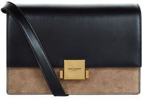 Saint Laurent Bellechasse Suede Panel Satchel - BLACK - STYLE