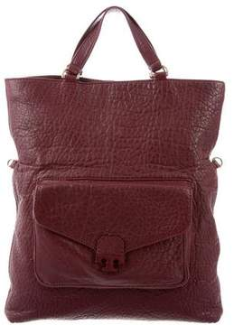 Tory Burch Parkan Fold-Over Tote - BURGUNDY - STYLE