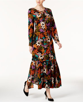 ECI Lace-Up Maxi Dress