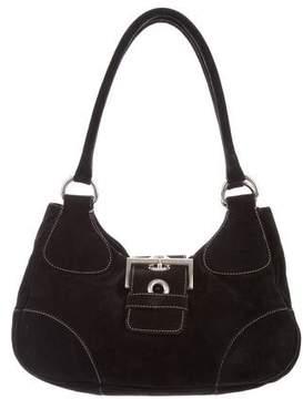 Prada Buckle Scamosciato Shoulder Bag