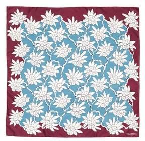 Valentino Rhododenron Square Silk Scarf