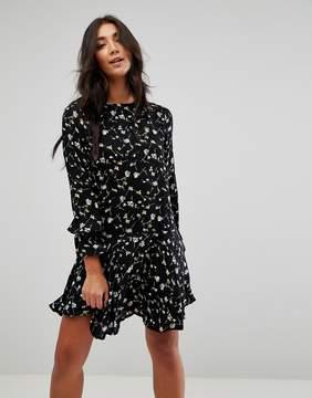 Brave Soul Floral Print Skater Dress