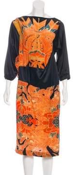 Dries Van Noten Printed Silk Dress