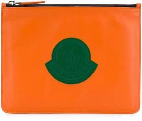Moncler logo patch clutch bag