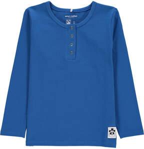 Mini Rodini Organic Cotton Basic Panda Henley Neck Shirt