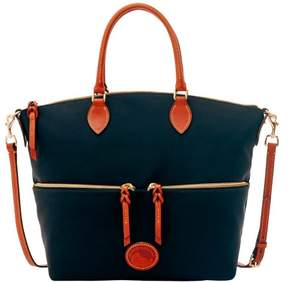 Dooney & Bourke Nylon Large Pocket Satchel - DUSTY BLUE - STYLE