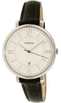 Fossil Women's Jacqueline ES3972 Black Leather Quartz Fashion Watch