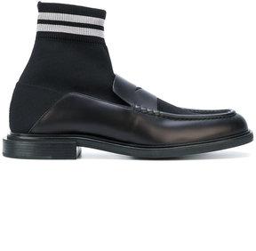 Fendi fabric hi-top loafers