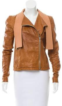 Damir Doma Leather Asymmetrical Jacket